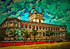 The Presidential Palace in Asuncion. Paraguay (V_Dagaev) Tags: presidential palace asuncion paraguay president presidentialpalace sight showplace paraguayattractions building sky landscape clouds summer visualdelights dynamicautopainter digital art architecture painterly painting capital