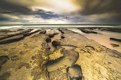 13th Beach, Barwon Heads (PAF71) Tags: beach ocean rockpools tide clouds nature flow drift distance