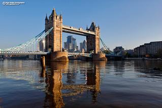 Tower Bridge London at first light