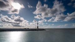 """""""La Pause du Christe"""" - Gujan-Mestras (33), France (L. Castaings - Photographie) Tags: sea mer blue bleu port france gironde aquitaine landscape paysage pause longue canon tamron nisi sun soleil"""