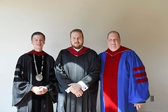 Rev. Mr. Andrew Boyd of the Diocese of Erie received the Master of Divinity degree from Saint Vincent Seminary on Friday, May 11. (Photo Credit:  St. Vincent Seminary)