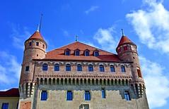 Château Saint-Maire (Diegojack) Tags: lausanne vaud suisse d7200 monuments château saintmaire contreplongée cadran solaire