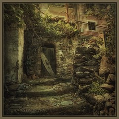 "from the series ""Walks in Italy"". Casalvecchio Siculo Messina, Italy. (Sicily) (odinvadim) Tags: mytravelgram iphoneart iphone iphoneography iphoneonly specialist snapseed textures painterlymobileart travel artist textured landscape"