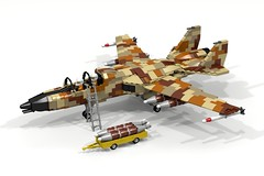 DA3 Ground Attack Aircraft (ABS Shipyards) Tags: lego decisive action 3 da3 ground attack aircraft swept wing variable geometry camouflage camo