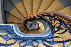 Le Belle (Elbmaedchen) Tags: staircase stairwell stairs stufen treppenhaus treppenauge treppe downstairs roundandround interior architecture schloss belvedere berlin