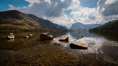 Buttermere, Lake District (throzen) Tags: lake district buttermere cumbria england uk europe landscape mountains mountain valley hills hill sky clouds blue skies water reflections polarizer rocks stones scenic scenery nature outside outdoors beauty beautiful canon eos 70d 1018 efs