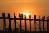 Ubein Bridge- Mandalay- Myanmar (Kathy~) Tags: bridge myanmar sunset burma silhouette people wood fc vertical