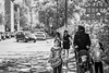 20180512_F0001: A summer day family outing (wfxue) Tags: people street road muslim family niqab woman kids children candid portrait streetphotography blackandwhite bw bnw monochrome