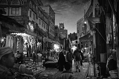 Yemen nightlife (wajadoon) Tags: 2011 sanaa downtown ethnic market middleeast souq yemen dubai uae