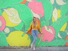 Valencia  2018 (Elysia in Wonderland) Tags: valencia holiday elysia lucy 2018 mum spain spanish vacation fruit mural wall lemon lime apple cherry orange colorful colourful