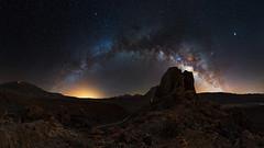 Tenerife - Los roques - Milky way bow (florenzi.daniele) Tags: tenerife milky milkyway bow night astro teide spain los roques garcia