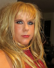 Looking smug? :-) (Irene Nyman) Tags: irenenyman dutch crossdress crossdresser irene nyman tranny tgirl transgirl blueeyes pvc cutie babe blonde xdresser mtf tights transvestite cute holland makeup portrait travestiet travestie xdress cd tv redtop pearls necklace