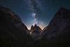 Somewhere (nils stefan püschel) Tags: night sky stars mountain alps galaxy vie light