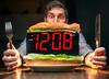 Time Consuming 142/365 (stevemolder) Tags: time consuming 365 may knife fork sandwich strobist westcott vello self portrait speedlite canon lettuce 30mm sigma