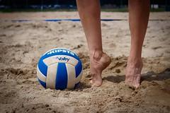 Volley... (Yaoluca) Tags: foot beachvolley sand summer ball girl woman life sunny sun travel holiday canon1300d canon italia italy