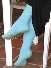bknh-0218 (jackvanvliet) Tags: blue knee high socks outdoors dirty barefoot women