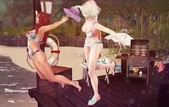 Golden-Days (:-parfaitsprinkles-:) Tags: secretgarden cynful pinkrayne beach sun ellen kurimukuma pier fun virtualgirl