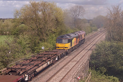 Class 66 - 66057 & Class 60 - 60047 (The_Anorak) Tags: diesel locomotive british rail railways freight goods claymills staffordshire burtonupontrent england unitedkingdom uk greatbritain gb thursday 26th april 2018 66057 60047 db deutschebahn dbs dbc ews dbcargo colas 6d44 bescot toton tmd engineers infrastructure class66 shed generalmotors gm electromotivediesel emd type5 class60 tug brush