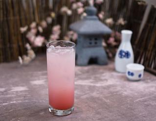 Hinomoto - rum, sake, Calpico, lychee liqueur, lemon juice, grenadine