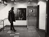 Broadway-Lafayette Street Station (SG Dorney) Tags: ny nyc newyorkcity newyorkcitysubway subway manhattan broadwaylafayettestreetstation bw monochrome blackandwhite davidbowie davidbowieishere art streetart subwayart street streetphoto streetphotography