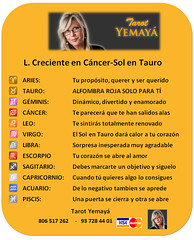 L.C. CÁRCER-SOL TAURO-18 (tarotyemaya) Tags: 806517374horóscoporosatarotyemayá signos zodiaco futuro destino planetas astrología numerología
