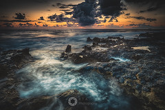 The Rocks and the Water (RTA Photography) Tags: cyprus paphos pafos seascape drama sky sunset dusk clouds waves movement rocks sea water light rtaphography longexposure colour d750 nikkor 1835 mediterranean nature outdoors