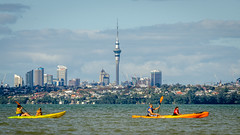 Kayak Weather (Kathrin & Stefan) Tags: auckland centralbusinessdistrict skytower waitemataharbour city cloud harbour kayak nature ocean outdoor sky skyline aucklandwaitakere northisland newzealand
