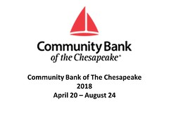 """Community Bank of The Chesapeake  April 20 - August 24, 2018 • <a style=""""font-size:0.8em;"""" href=""""https://www.flickr.com/photos/124378531@N04/41021066744/"""" target=""""_blank"""">View on Flickr</a>"""