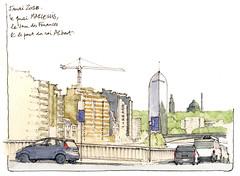 tour des Finances (gerard michel) Tags: belgium liège architecture sketch croquis aquarelle watercolour
