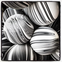 Balloons (mphelps311) Tags: balloons instagram square squareformat blackandwhite iphone iphoneography abstract