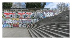 Calle Jándalo street art (AurelioZen) Tags: europe spain anlalusia sevilla callejándalo stairs streetart