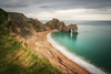 Grey Day at Durdle Door (Rich Walker75) Tags: durdledoor dorset beach beaches landscape landscapes landscapephotography landmark landmarks longexposure longexposures longexposurephotography canon eos eos80d greatbritain england sky cloud sea coast coastliine water