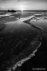 Spring Ice - Balsam Harbour (burntpixel.ca) Tags: canada manitoba photo photograph rural fine art patrick mcneill burntpixel beautiful amazing sony a7r2 a7rii sonya7r2 landscape nature water monochrome black white bw balsam harbour lake winnipeg ice spring winter cold sunset sunrise