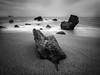 Some rocks by the sea (Jose Viegas) Tags: longexposure fozdodouro porto portugal blackwhite pretoebranco landscape seascape olympusem1markii