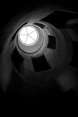 Point of view (•Nicolas•) Tags: nicolasthomas castle chateau france m9 monument tourism tourisme visit visite yonne light shadow dark stairway architecture building spiral spirale colimaçon maulnes