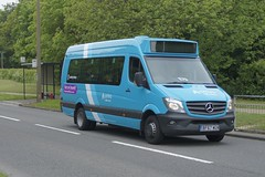 Borrowed Breadvan: Arriva Harlow Mercedes-Benz Sprinter 45 BF67WGN (1015) Fourth Avenue Harlow 16/05/18 (TheStanstedTrainspotter) Tags: bus buses harlow public transport publictransport harlowbusstation arrivaharlow networkharlow arriva arrivakentthameside mercedes benz mercedesbenz sprinter45 sprinter bf67wgn 1015 6 princessalexandrahospital fourthavenue stevenage minibus breadvan borrowed loan
