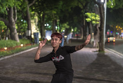 Hanoi at night (lgflickr1) Tags: hanoi vietnam vietnamese northvietnam night nikon d750 street streetphotography southeastasia asia lowlight outdoor people portrait road travel trees exterior youth city candid lights urban tattoos redhead