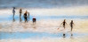 6925TS Impressions of Summer (foxxyg2) Tags: sun sea sand families blue gold reflections beach play fun art people groups painterly