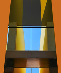 Modern building (chrisk8800) Tags: architecture building walls window skyway barcelona lines geometric