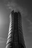 Warsaw Spire (_Sylvian) Tags: bw warsawspire architecture blackandwhite buildings city poland polska sky skyscraper spire street urban warsaw warszawa