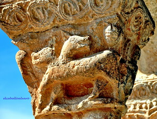 594 – Capitel: Animal – Iglesia San Ginés – Rejas de San Esteban (Soria) - Spain.
