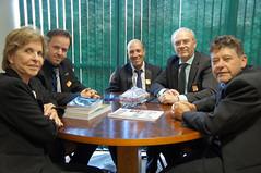 22/05/18 - Visita dos representantes de Chiapetta/RS. Com o prefeito Eder Luis Both, o vice-prefeito Celço Paulo Beier, e os vereadores Joel Pires Corrêa e Aldair Clóvis Maron.