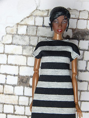 Capsule Collection – the black and grey striped dress shirt (Levitation_inc.) Tags: ooak doll clothes clothing fashion fashions dolls handmade etsy levitation levitationfashion royalty fr fr2 nuface poppy parker barbie made move outfit black white basic basics capsule collection wardrobe tropical siren josephine jo