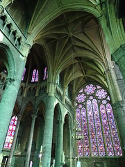 vidriera y bovedad iglesia interior Colegiata Notre Dame de Dinant Belgica 04 (Rafael Gomez - http://micamara.es) Tags: vidriera iglesia interior colegiata notre dame de dinant belgica valonia bélgica