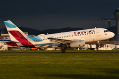 OE-LYW Airbus A319-132 EGPH 18-05-18 (MarkP51) Tags: oelyw airbus a319132 a319 eurowings ew ewg edinburgh airport edi egph scotland aviation aircraft airplane plane image markp51 sunshine sunny airliner nikon d7200 aviationphotography
