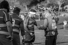 Fixing injuries (NZL365) Tags: rugby rugbyphotography rugbyunion rugbyfootball sportsinjury physio canonphotographer sports sportsphotography canon7dii blackandwhite blackwhite 365project project365 365photochallenge 365days