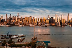 Manhattan skyline from Weehawken (kareszzz) Tags: manhattan skyline from weehawken newyork nyc ny us usa goldenhour sunset afternoon evening summer hudsonriver boats ships sky dramaticsky contrast colours america bigapple city cityscape landscape skyscrapers sundown portimperial