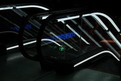 ↑ (jhnmccrmck) Tags: melbourne 3000 escalators neon fujifilm xt1 classicchrome stcollinslane inexplore iminexplore