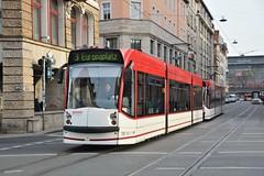 Erfurt, Bahnhofstraße 14.10.2016 (The STB) Tags: tram tramway strassenbahn strasenbahn publictransport streetcar citytransport öpnv erfurt deutschland germany