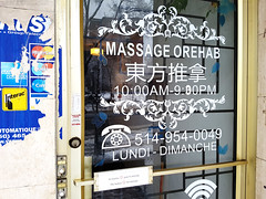 Chinese Massage (Walker Larry) Tags: massage montreal massotherapy chinatown orehab centre parlor chinese asians masseuses masseuse body rub tug rugs parlour asian mp amp